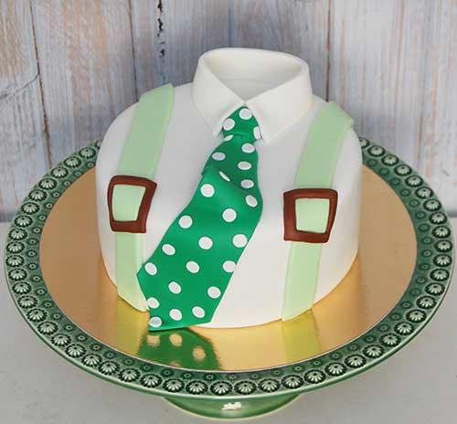 Bolo-gravata-verde