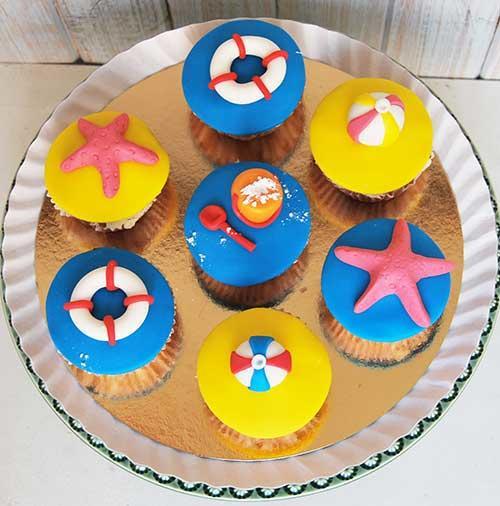 Cupcakes-praia