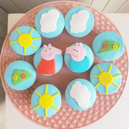 1 cupcakes peppa pig